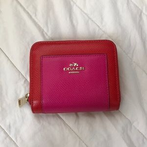 Coach Orange and Pink Wallet